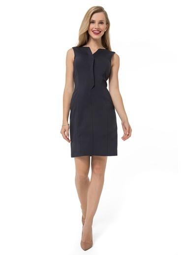 Accouchée Emzirme Özellikli Şık Elbise Lacivert
